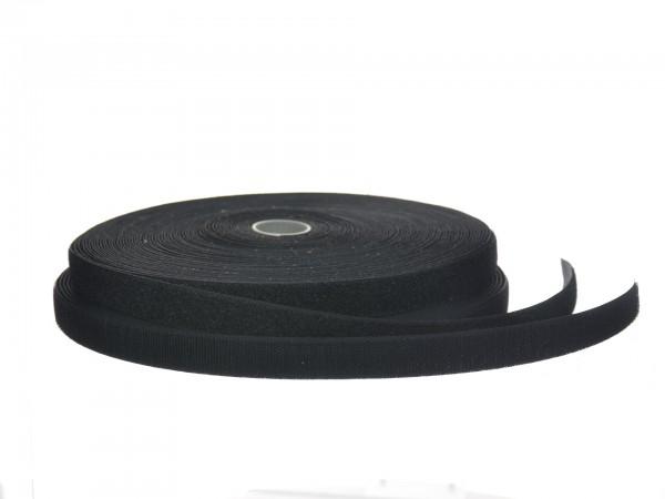 Klettbandset 20 mm schwarz, 2 x 25 m