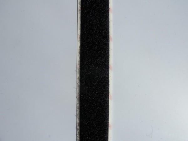 Velcro Flauschband, selbstklebend, Breite 20 mm, schwarz