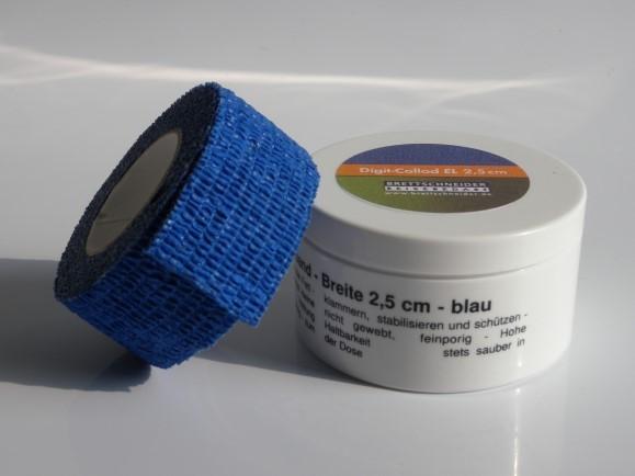 Digit Collod elastisch, 2,5 cm, blau/blue