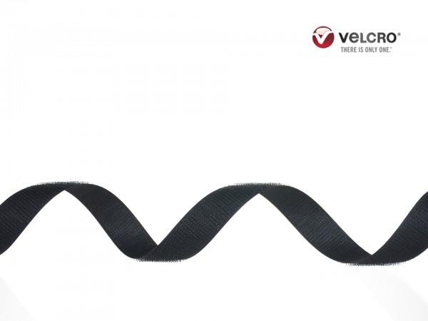 Velcro Häkchenband, Breite 20 mm, schwarz