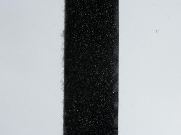 Velcro Flauschband, Breite 20 mm, schwarz