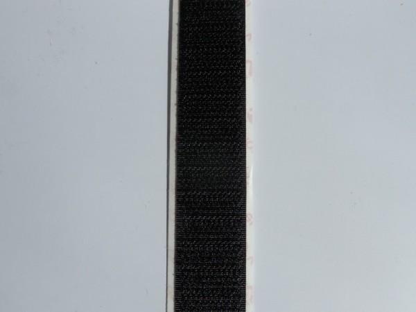 Velcro Häkchenband, selbstklebend, Breite 20 mm, schwarz