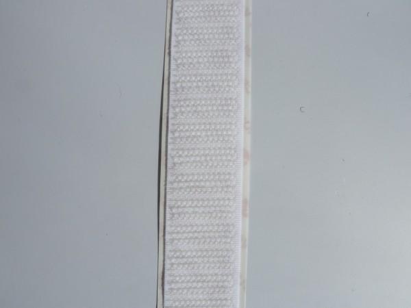 Velcro Häkchenband, selbstklebend, Breite 20 mm, weiss